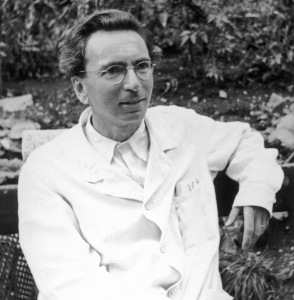 Viktor Frankl two years after he was released from German captivity, which helped him develop ideas to provide meaning in life, captured in his book Man's Search for Meaning.