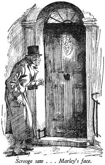 A scene from the first spirit visiting Scrooge on Christmas Eve.