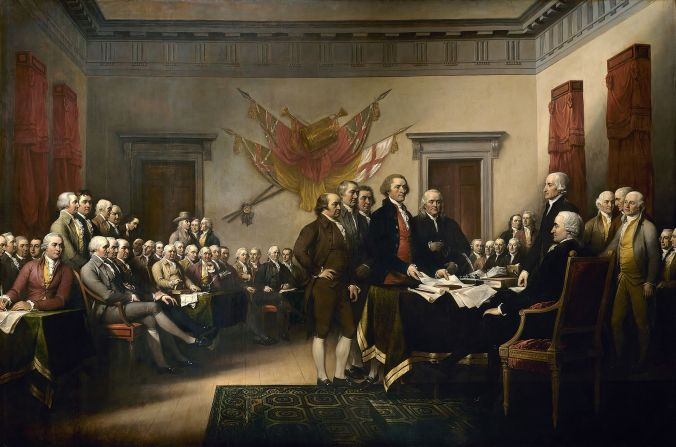 """Declaration independence"" by John Trumbull. Licensed under Public Domain via Wikimedia Commons - http://commons.wikimedia.org/wiki/File:Declaration_independence.jpg#mediaviewer/File:Declaration_independence.jpg"