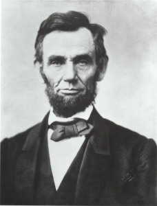 President Abraham Lincoln, an ardent practitioner of forgiveness.
