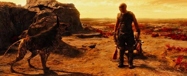 Vin Diesel as Riddick and Jacka Dog Photo