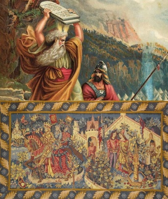 The Haywood Tapestries show King Arthur, a famous adoptee of noble lineage, like Moses, the greatest adoptee of the Bible and the Jewish and Christian traditions.