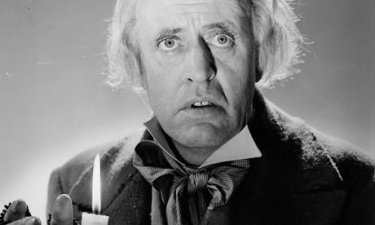 Actor Alastair Sim in the 1951 film adaptation of A Christmas Carol